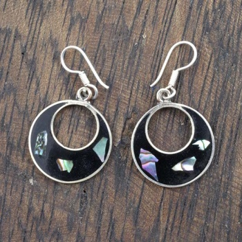 Basilia Black Shell Earrings
