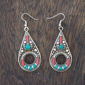 Metal Oval Earrings
