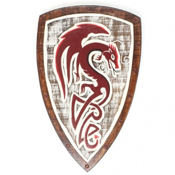 Red Dragon Shield Plaque