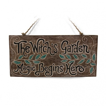 The Witch's Garden Plaque