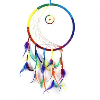 Large Rainbow Moon Dreamcatcher