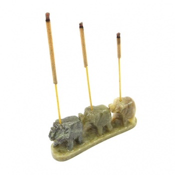 Soapstone Elephant Chain Incense Holder