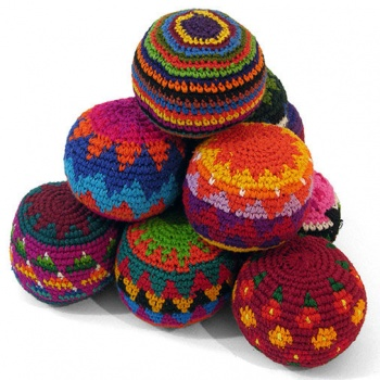 Set of 3 Crochet Haki Sacks / Juggling Balls