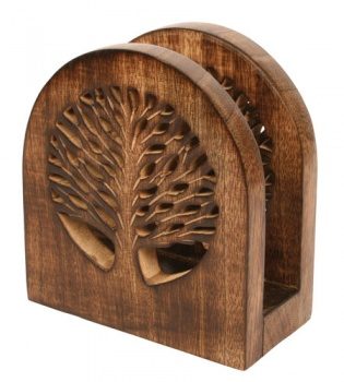 Letter/Envelope Holder Mango Wood Tree of Life