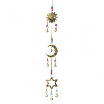 Hanging Chime with Brass Sun Moon Star