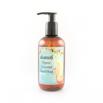 Organic Unscented CLEAR Liquid Soap 250ml