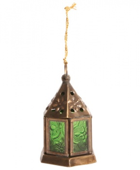 Lantern Mini Hexagonal Green