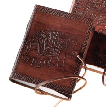 Small Leather Elephant Notebook