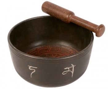 Singing bowl red Buddha 500g
