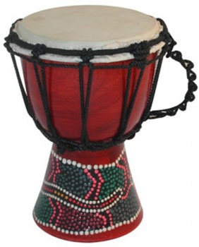 20cm Painted Djembe Drum