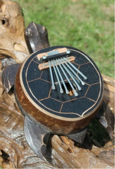Fair Trade Hand Carved wooden Turtle Karimba
