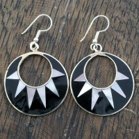 Celia Black Shell Earrings