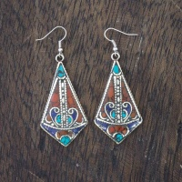 Metal Shield Earrings