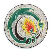Flaming Dragon Plaque