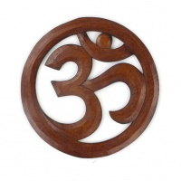 Wooden Om Plaque