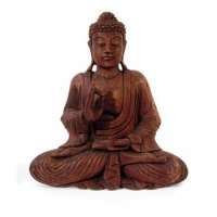 Large Handcarved Sitting Buddha