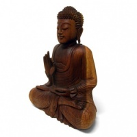 Larger Handcarved Sitting Buddha