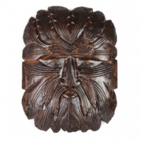 Flat Green Man Woodcarving