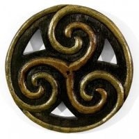 Wooden Triskelion Plaque