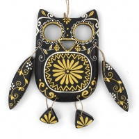 Wooden Hanging Candy Owl