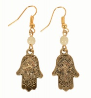 Earrings Gold Hamsa Hand