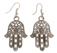 Earrings Silver Coloured Hamsa Hand