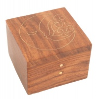 Small Shesham Wood Box Moon