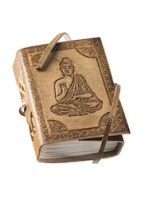 Small Buddha Embossed Leather Notebook