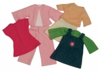 Rag Doll Clothes - Green Set