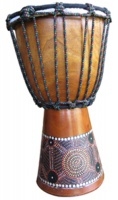 30cm Painted Djembe Drum